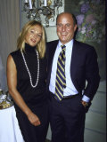 Actress Ellen Barkin and Revlon Ceo Ron Perelman