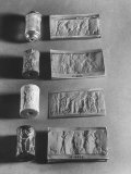 Gilgamesh Cylinder Seals Commemorating Acts of Mythological Character from Sumerian Culture