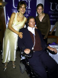 Paralyzed Actor Christopher Reeve Wife Dana and Daughter Alexandra at the National Horse Show