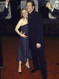 Actors Renee Zellweger and Jim Carrey at Golden Globe Awards