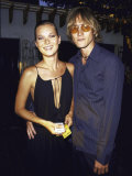 Model Kate Moss and Boyfriend Anthony at Talk Magazines Debut in Liberty Island