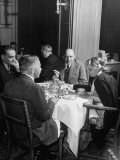 Associate Consultant to America Delegation Dr. W. E. B. Dubois, Eating Lunch with Other Consultants