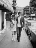 Actress Gundel Sargeant with Actor George Lazenby Who Is Auditioning for the New James Bond Film