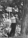 Golfer Sam Snead Hitting His Ball