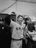 New York Yankees Player Bob Turley Celebrating after Winning the World Series