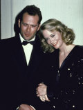 Actors Bruce Willis and Cybill Shepherd