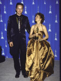 Actors Tim Robbins and Susan Sarandon in Press Room at Academy Awards