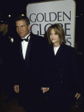 Married Actors Dennis Quaid and Meg Ryan at the Golden Globe Awards