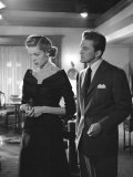 Actors Lauren Bacall and Kirk Douglas in