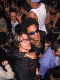 Singers Anthony Kiedis and Lenny Kravitz