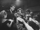 Dick Clark Signing His Autograph for Fans of His TV Show the