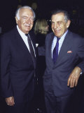 Former Television News Anchor Walter Cronkite and Television Journalist Morley Safer