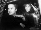 Actress Susan Sarandon in Car with Actor Tim Robbins after Attending a Benefit