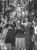 Biologist Author Rachel Carson Birdwatching with Fellow Audobon Society Members in Park