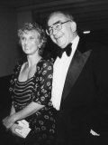 Actress Cloris Leachman Attending Benefit Event with Actor Ed Asner