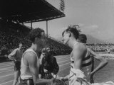 British Empire Games, Runners John Landy and Roger Bannister after Competing