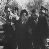 Actress Elizabeth Taylor Attending the Funeral of Michael Todd with Her Brother Howard Taylor Jr
