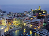 Village of Vernazza in the Evening, Cinque Terre, Unesco World Heritage Site, Liguria, Italy