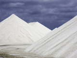 Mountains of Salt at the Salt Flats of Pekelmeer, Bonaire, Caribbean