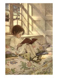 Buy Chlld Reading on Couch, 1905 at AllPosters.com