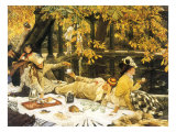 Buy Picnic Lunch by Pool, 1876 at AllPosters.com