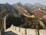 Autumn Colours on the Great Wall of China at Badaling, China