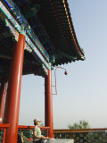Buy Reiki Healer Regina Wei Practising Yoga at Wanchun Pavilion in Jingshan Park, Beijing China at AllPosters.com