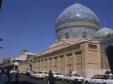 Sheikh Omar Mosque with Blue Tiles on Dome, Islamic Architecture, Baghdad, Iraq, Middle East