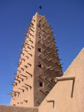 Detail of Mosque Minaret in Agadez, Sahel, Niger, Africa