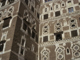 Architectural Detail, Old City, Sana'A, UNESCO World Heritage Site, Yemen, Middle East
