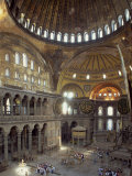 Interior of the Santa Sofia Mosque, Originally a Byzantine Church, Istanbul, Turkey