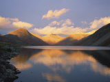 Wasdale Head and Great Gable Reflected in Wastwater, Lake District National Park, Cumbria, England