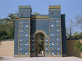 Reconstruction of the Ishtar Gate, Entrance to Babylon, Mesopotamia, Iraq, Middle East