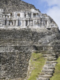 Frieze and Steps Up to the 130Ft High El Castillo, Mayan Site, Xunantunich, San Ignacio, Belize