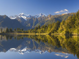 Lake Matheson, Mount Tasman and Mount Cook, Westland, South Island, New Zealand, Pacific