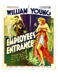Employees' Entrance, Warren William, Loretta Young on Window Card, 1933