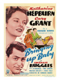Bringing Up Baby, Katharine Hepburn, Cary Grant on Midget Window Card, 1938