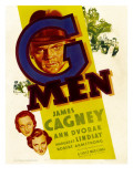 G-Men, Ann Dvorak, Margaret Lindsay, James Cagney on Window Card, 1935