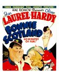 Bonnie Scotland, Oliver Hardy, June Lang, Stan Laurel on Window Card, 1935
