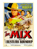 Rustlers' Roundup, Tom Mix, Noah Beery Jr., Diane Sinclair, 1933