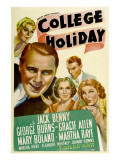 College Holiday, Mary Boland, Jack Benny, Gracie Allen, George Burns, Martha Raye, 1936