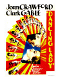 Dancing Lady, Clark Gable, Joan Crawford on Midget Window Card, 1933