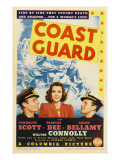 Coast Guard, Randolph Scott, Frances Dee, Ralph Bellamy on Midget Window Card, 1939