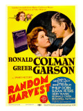 Random Harvest, Greer Garson, Ronald Colman on Midget Window Card, 1942