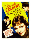 Gilded Lily, Fred Macmurray, Claudette Colbert, Far Right: Ray Milland on Midget Window Card, 1935