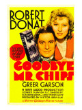 Goodbye, Mr. Chips, Robert Donat, Greer Garson on Midget Window Card, 1939