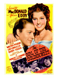 The Girl of the Golden West, Nelson Eddy, Jeanette Macdonald on Midget Window Card, 1938