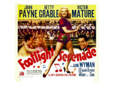 Footlight Serenade, John Payne, Betty Grable, Victor Mature on Window Card, 1942