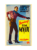 Tim Mccoy on Stock Midget Window Card, 1932
