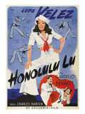 Honolulu Lu, Lupe Velez on Swedish Poster Art, 1941